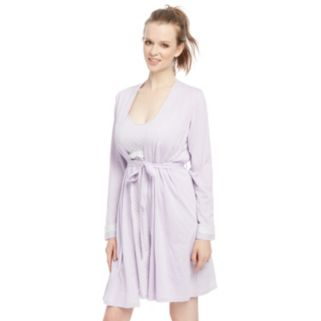 Maternity Oh Baby by Motherhood™ Lace Nursing Gown & Robe Set