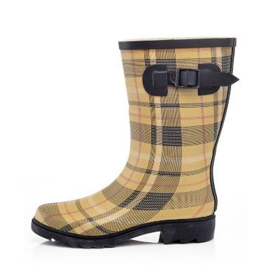 Henry Ferrera Dry Stone Women's Water-Resistant Plaid Rain Boots