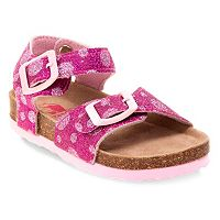 Rugged Bear Toddler Girls' Glitter Sandals