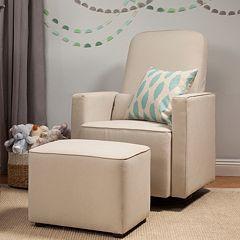 DaVinci Olive Glider Chair & Ottoman Set