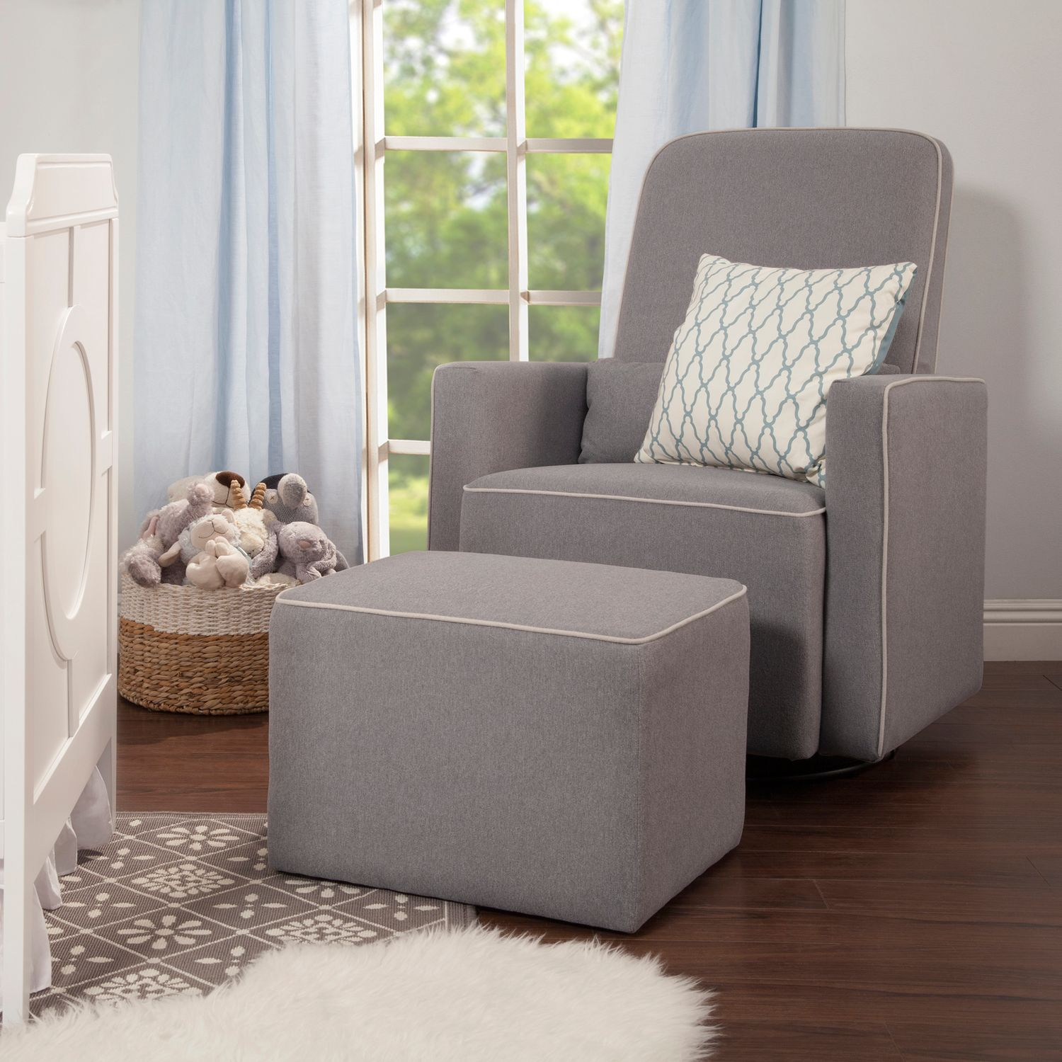 davinci olive glider chair u0026 ottoman set - Gliding Rocking Chair