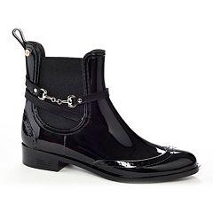 Henry Ferrera Survivor Women's Chelsea Water-Resistant Ankle Rain Boots