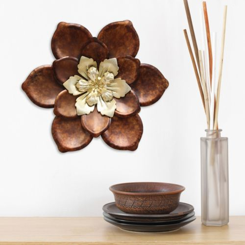 Stratton Home Decor Whimsical Flower Metal Wall Decor