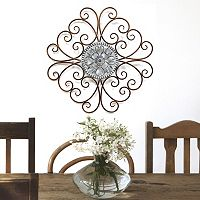 Stratton Home Decor Scroll Medallion Metal Wall Decor