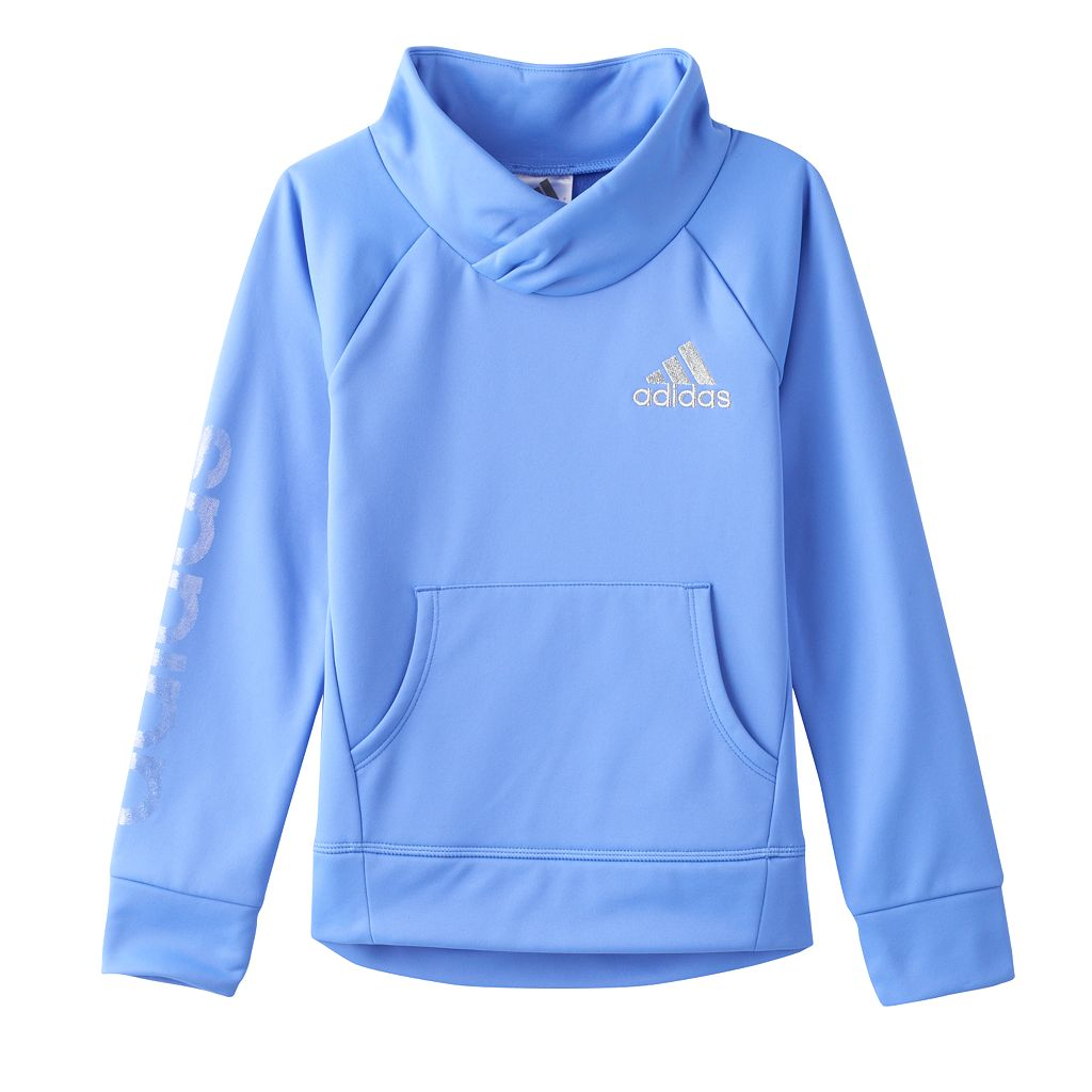 Girls 4-6x adidas Shawl-Collar Fleece-Lined Performance Pullover