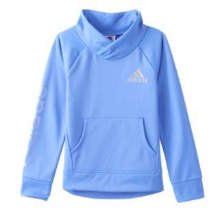 Girls 4-6x adidas Shawl-Collar Fleece-Lined Performance Pullover