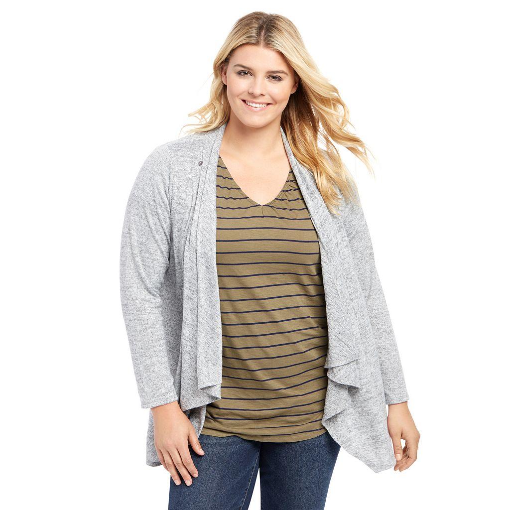 Plus Size Maternity Oh Baby by Motherhood Nursing Cardigan