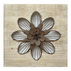 Stratton Home Decor Rustic Flower Metal Wall Decor