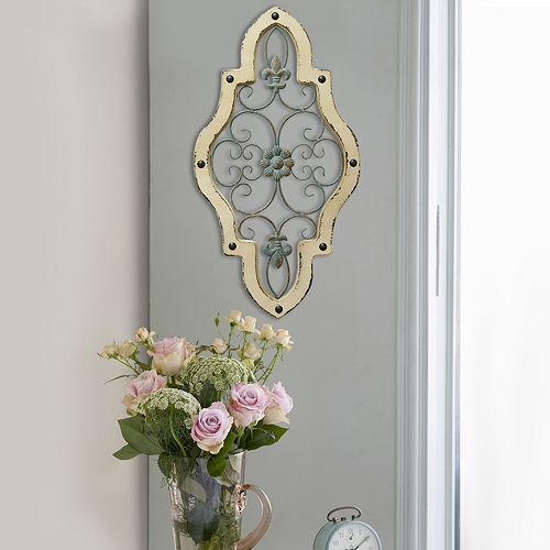 Stratton Home Decor Ornate Panel Metal Wall Decor