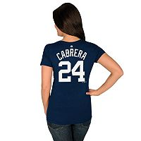 Plus Size Majestic Detroit Tigers Miguel Cabrera Player Name and Number Tee