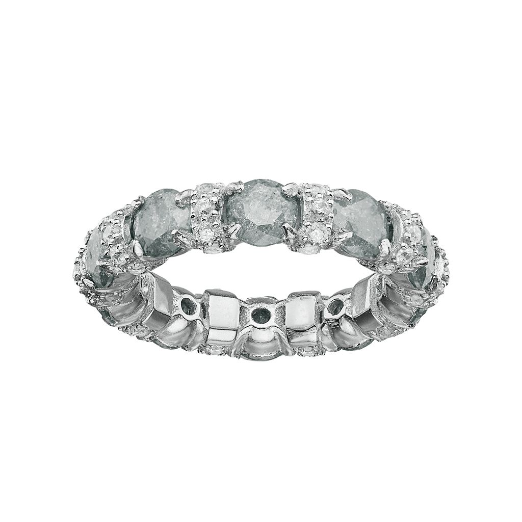Sterling Silver Cubic Zirconia Eternity Ring