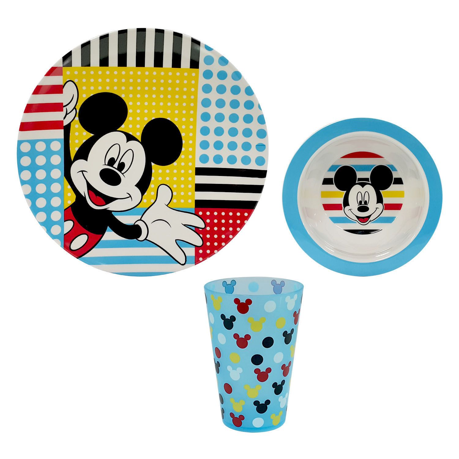 Disney\u0027s Mickey Mouse 3-pc. Kid\u0027s Dinnerware Set by Jumping Beans®  sc 1 st  Kohl\u0027s : mickey mouse dinnerware set - pezcame.com