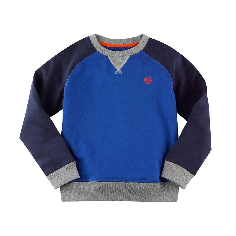 Boys 4-7 Chaps Colorblocked Crewneck Sweatshirt