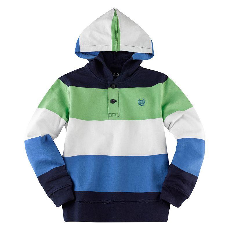 Boys 4-7 Chaps Striped Hoodie
