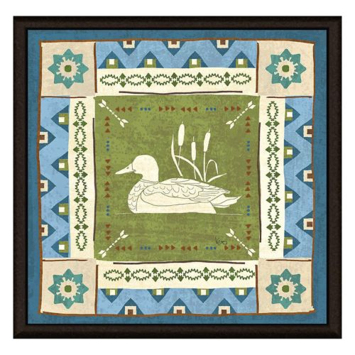 Lake Duck Framed Canvas Wall A...