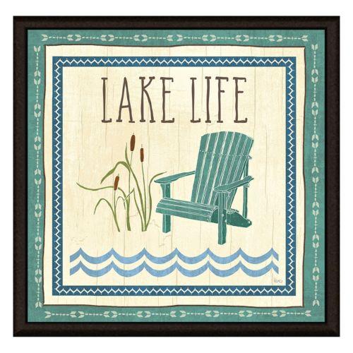 """Lake Life"" Framed Canvas Wall Art"