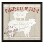 """Kissing Cow Farm"" Framed Canvas Wall Art"