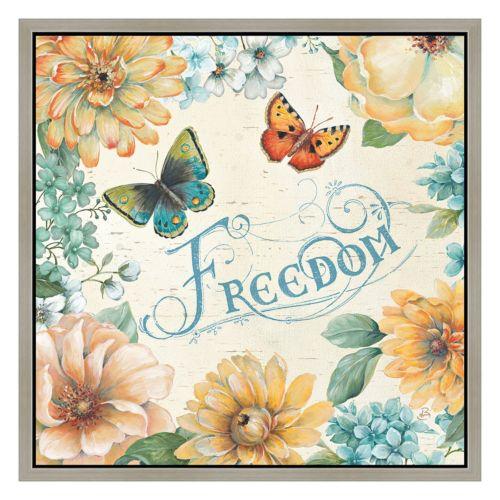 """""""Freedom"""" Framed Canvas Wall Art"""