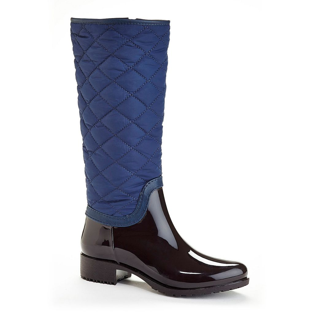 Henry Ferrera Blue Fin Women's Water-Resistant Quilted Rain Boots