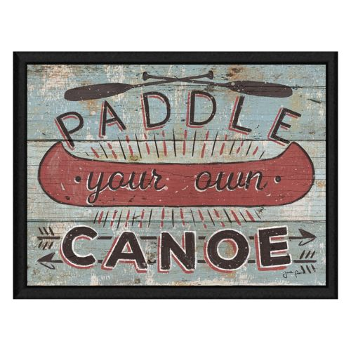"""""""Paddle Your Own Canoe"""" Framed Canvas Wall Art"""