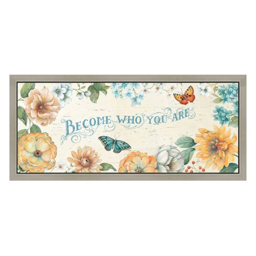 Who You Are Floral Framed Canvas Wall Art