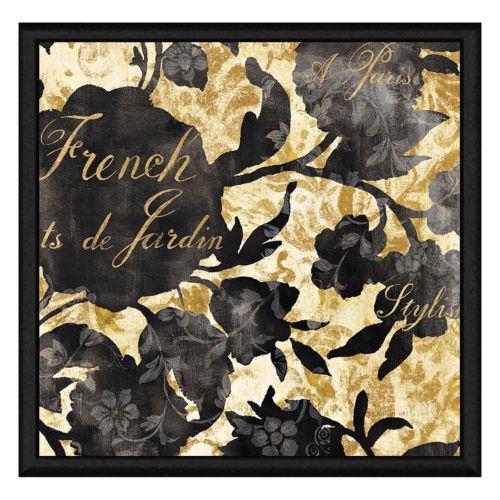 French Garden Paris Framed Canvas Wall Art