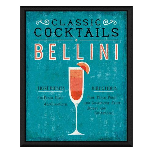Bellini Cocktail Framed Canvas Wall Art