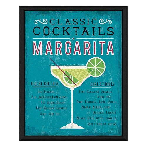 Margarita Cocktail Framed Canv...