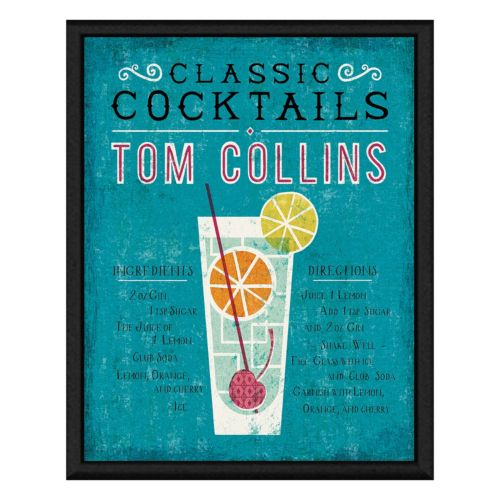 Tom Collins Cocktail Framed Canvas Wall Art