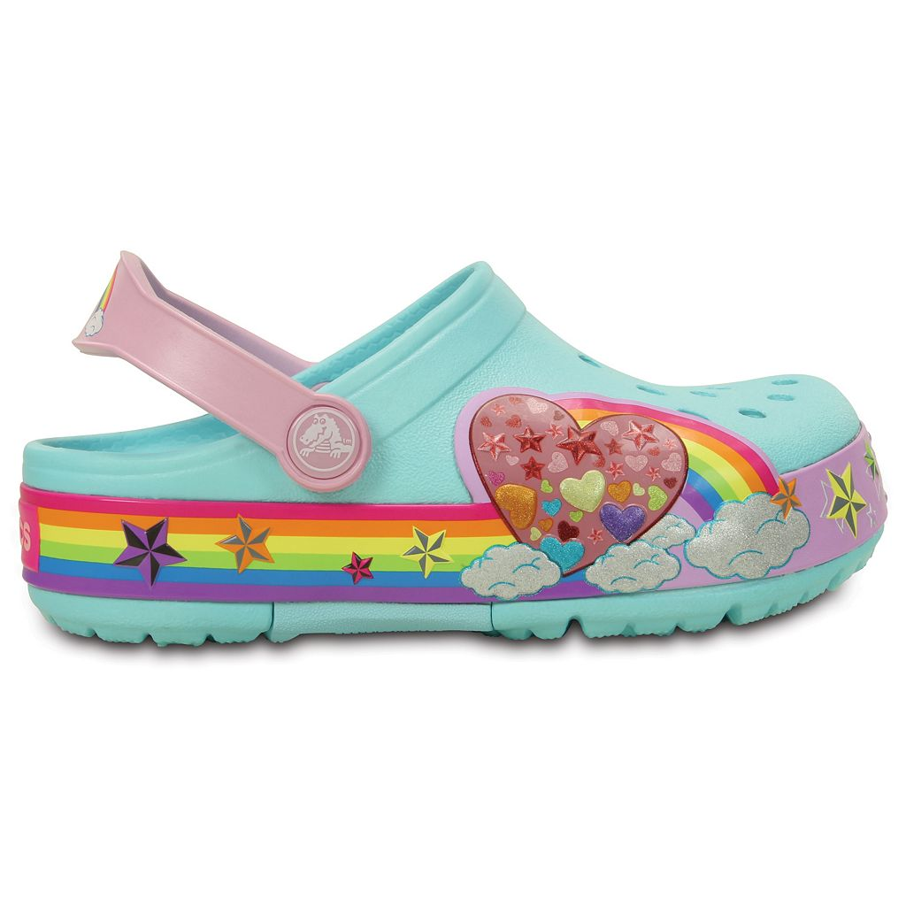 Crocs CrocsLights Rainbow Heart Kids' Light-Up Clogs
