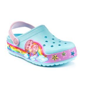 Crocs CrocsLights Rainbow Heart Kids' Light-Up Clogs