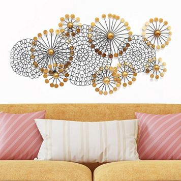 Stratton Home Decor Spiral Circles Metal Wall Decor