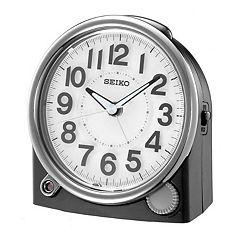 Seiko Two Tone Bedside Alarm Clock - QHE143JLH