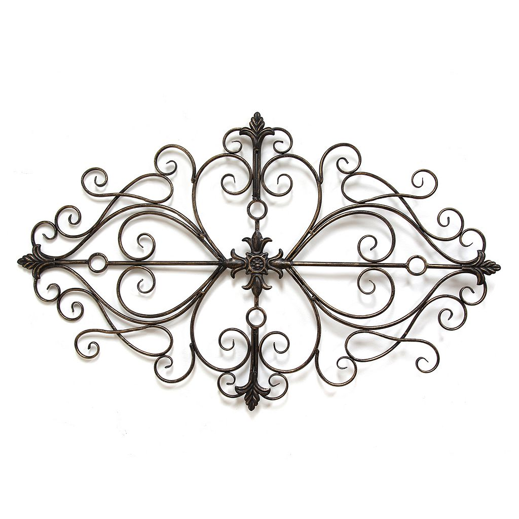 Stratton Home Decor Traditional Scroll Metal Wall Decor