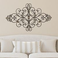 Stratton Home Decor Ornate Scroll Metal Wall Decor