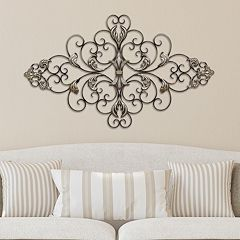 Stratton Home Decor Ornate Scroll Metal Wall