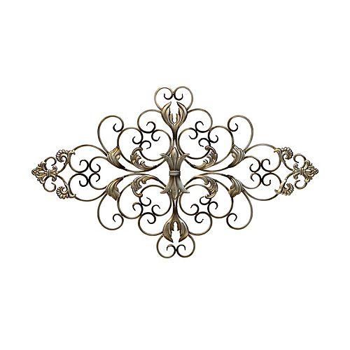 At Home Decor Store: Stratton Home Decor Ornate Scroll Metal Wall Decor