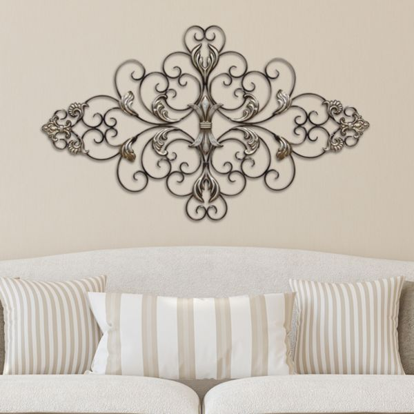 30 Wall Decor Ideas For Your Home: Stratton Home Decor Ornate Scroll Metal Wall Decor