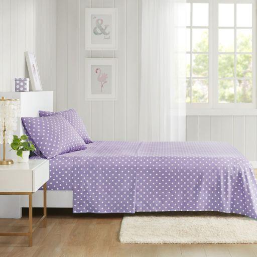 Mi Zone Polka Dot Percale Cotton Sheet Set