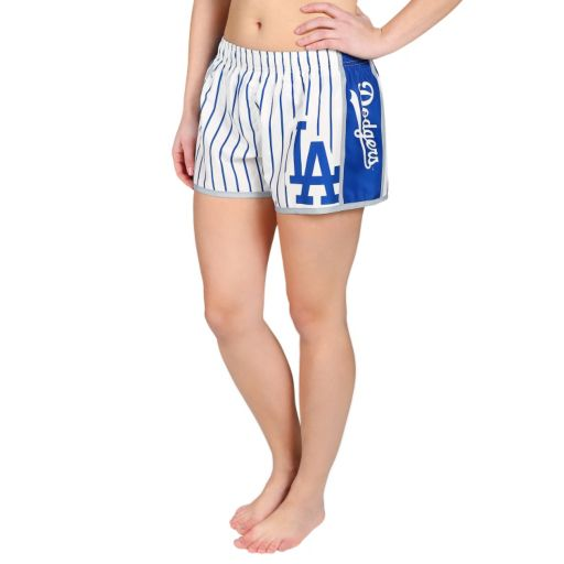 Women's Forever Collectibles Los Angeles Dodgers Striped Shorts