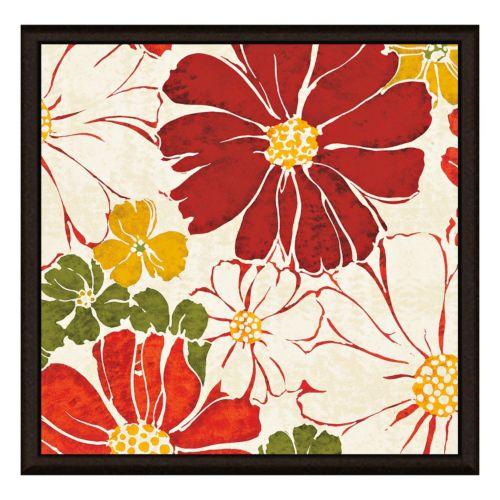 Red Flower Framed Canvas Wall Art