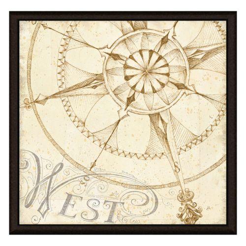 Compass West Framed Canvas Wall Art