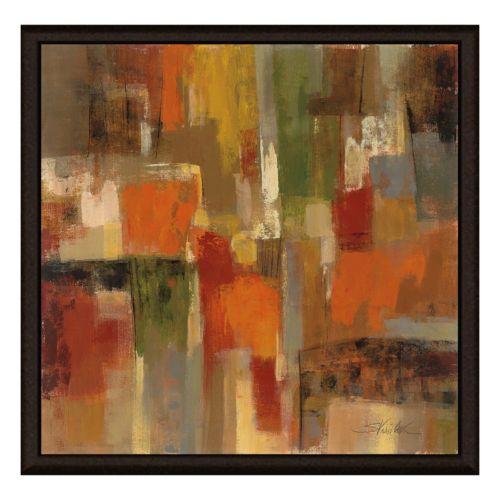 Dark Brown Framed Canvas Wall ...