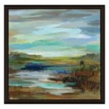 Blue Lake II Framed Canvas Wall Art