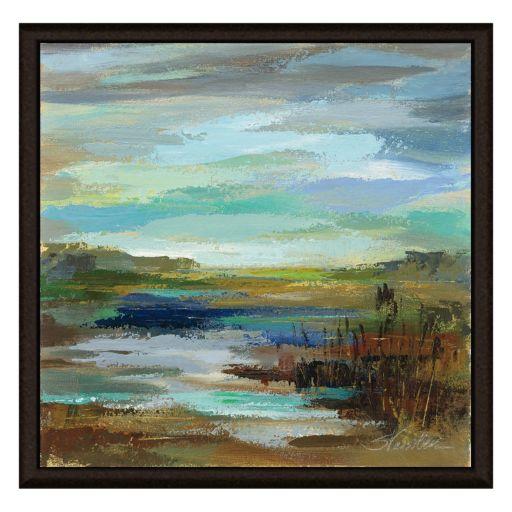 Blue Lake II Framed Canvas Wall Art