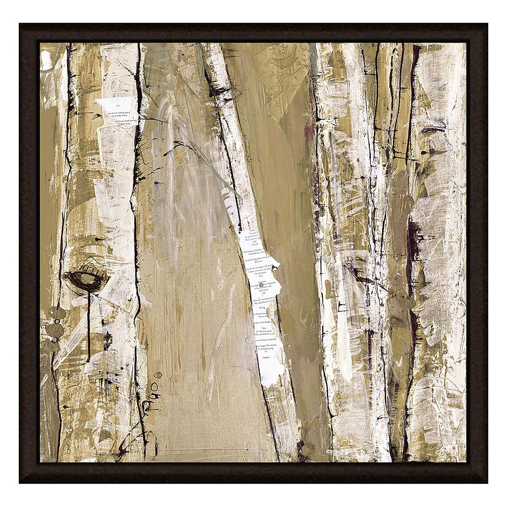 Brown Stems I Framed Canvas Wall Art