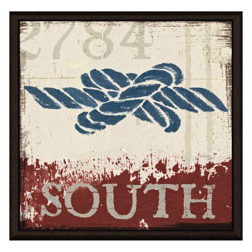 South Knot Framed Canvas Wall Art