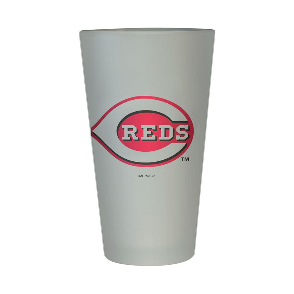 Cincinnati Reds Frosted Pint Glass