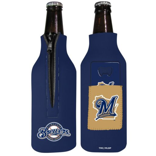 Milwaukee Brewers Bottle Cover & Opener Set