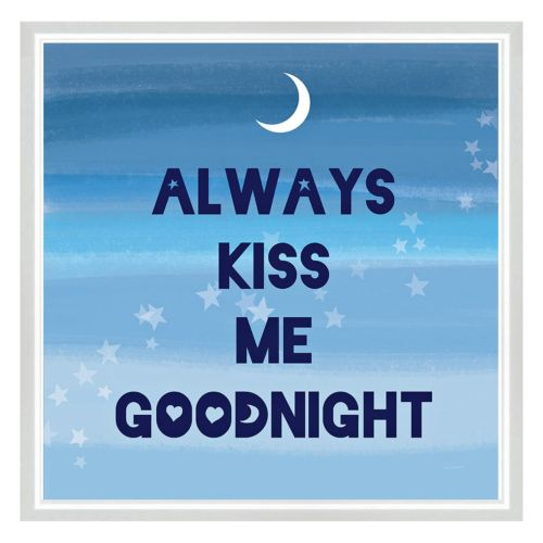 Always Kiss Me Goodnight Framed Canvas Wall Art